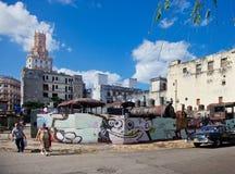 HAVANA-DECEMBER 30: Ulica w starej części miasto Grudzień 3 Fotografia Royalty Free