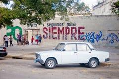 HAVANA-DECEMBER 30: Ulica w starej części miasto Grudzień 3 Obrazy Royalty Free