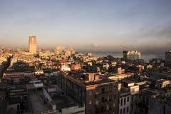 Havana an der Dämmerung lizenzfreies stockfoto