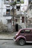 Havana facade and oldtimer Royalty Free Stock Images