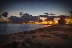 Havana Fantasy. The road Malecon night, Havana,Cuba Royalty Free Stock Images