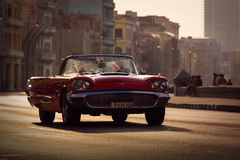 HAVANA - FEBRUARY 17: Classic car and antique buildings on Febru Royalty Free Stock Image