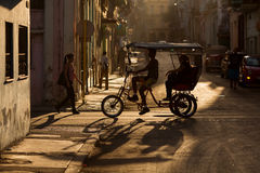HAVANA - FEBRUARY 17: Unkown woman staying on front of her house on February 17, 2015 in Havana. Havana is the capital city, provi Royalty Free Stock Photos