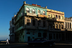 HAVANA - FEBRUARY 17: Unkown woman staying on front of her house on February 17, 2015 in Havana. Havana is the capital city, provi Royalty Free Stock Images