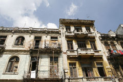 Havana flats. Flats at old Havana center in Cuba Royalty Free Stock Images