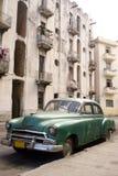 Havana - Green Car Royalty Free Stock Photos