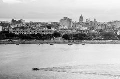 Havana (Habana) in Black and White Royalty Free Stock Images