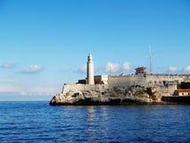 Havana harbor. Scenic view of lighthouse in Havana harbor, Cuba Stock Photos
