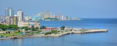 Havana Harbor y paisaje urbano Foto de archivo libre de regalías