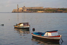 Havana harbour in the sunset Royalty Free Stock Photos
