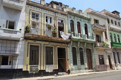 Havana historic houses Royalty Free Stock Photos