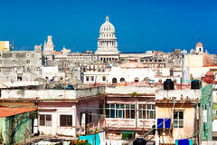 Havana including the Capitol and shabby buildings Stock Image