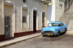 Taxi in Havana, Cuba Royalty Free Stock Image