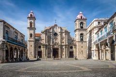 Havana-Kathedrale, Kuba lizenzfreies stockfoto