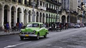 Havana Kuba. Gataplats. Arkivfoton