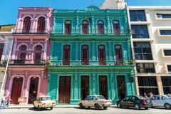 HAVANA, KUBA - 20. OKTOBER 2017: Bunte Havana Old Town Architecture Lizenzfreie Stockbilder