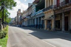 HAVANA, KUBA - 20. OKTOBER 2017: Bunte Havana Old Town Architecture Lizenzfreies Stockfoto