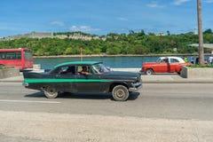 HAVANA, KUBA - 20. OKTOBER 2017: Havana Old Taxi Car Lizenzfreie Stockfotografie
