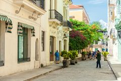 HAVANA, KUBA - 20. OKTOBER 2017: Havana Old Town Architecture Stockfotos