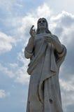 Havana, Kuba: Statue von Jesus Christ stockfotografie