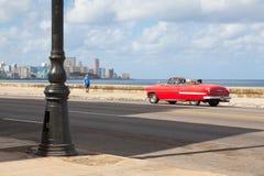 Havana Malecon is a broad esplanade  along the coast in Havana. Havana,Cuba - January 22,2017: Havana Malecon. The Malecon officially Avenida de Maceo is a broad Stock Image
