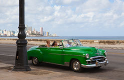 Havana Malecon is a broad esplanade  along the coast in Havana. Havana,Cuba - January 22,2017: Havana Malecon. The Malecon officially Avenida de Maceo is a broad Royalty Free Stock Image