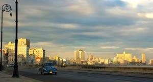 Havana malecon in de ochtend Stock Fotografie