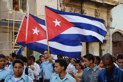 Havana March Students Stock Photo