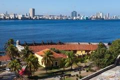 Havana and Morro's fortress. Stock Image
