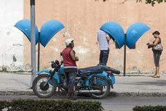 Havana motorcycle Stock Images