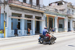 Havana motorcycle Royalty Free Stock Images