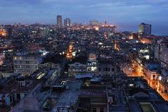 Havana na noite, Cuba Imagens de Stock