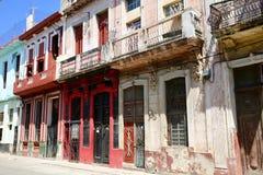 Havana Neighborhood in Disrepair. Decaying neighborhood in downtown Havana, Cuba Royalty Free Stock Photos