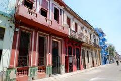 Havana Neighborhood`s Colorful Decline Royalty Free Stock Images