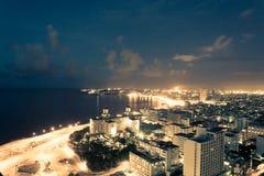 Havana nightsky. Picture from the top of havana Cuba in the beautifull night light Stock Photos