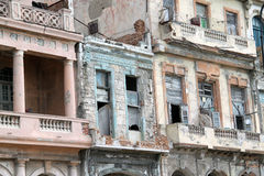 Havana old buildings. Old buildings in old Havana, Cuba Stock Photo