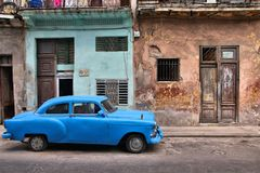 Havana old car Royalty Free Stock Images