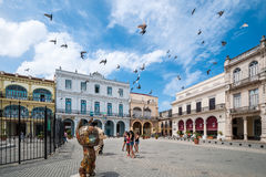 Havana Old Square eller Plaza Vieja Royaltyfri Foto