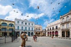 Havana Old Square oder Piazza Vieja lizenzfreies stockfoto