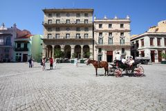 Havana Old Town Royaltyfria Foton