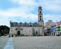 Havana - oude kerk Stock Foto