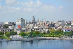 Havana Overview From a água imagens de stock