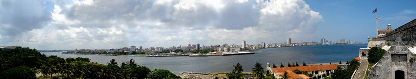 havana panorama- sikt Arkivbild
