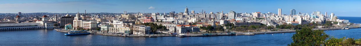 Havana.Panorama in a sunny day Stock Image