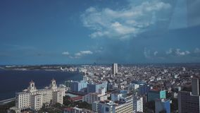 HAVANA panoramic view of the 33 floor restaurantThe old streets, the main square, the citizens. stock video footage