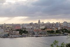 Havana. A panoramic view of Old Havana with the El Capitolio dome and the tower of Jose Marti memorial in the background, Havana, Cuba stock photos