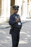 Havana Policeman Royalty Free Stock Photography