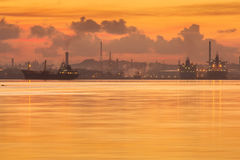 Havana port at sunrise with motion water, Cuba.  Royalty Free Stock Photos