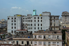 Havana's building. Old building situated in old havana, from Ambos Mundos hotel stock image