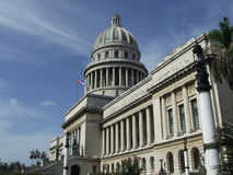 Havana's Capitol front view. In a sunny day Royalty Free Stock Photography